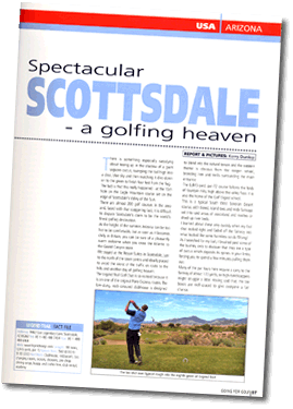 Feature written for Going for Golf magazine